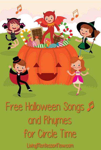 Lots of fun, non-scary Halloween songs, rhymes, and fingerplays for preschoolers and kindergarteners at home or in the classroom