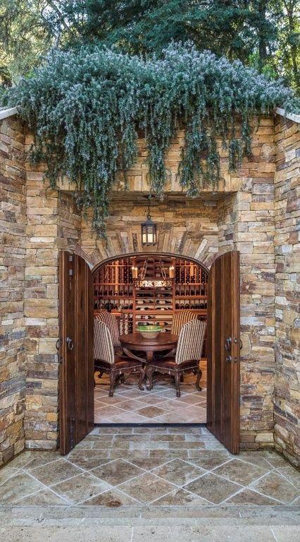 in-ground wine cellar