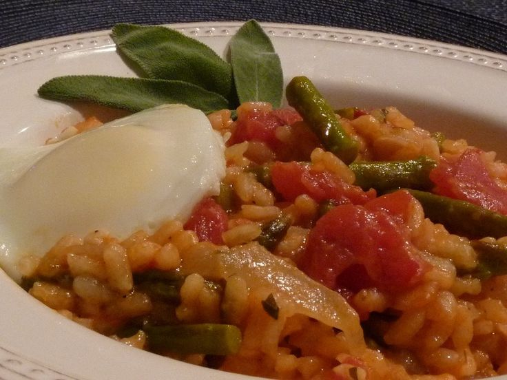 January: Asparagus Risotto with Egg | Favorite Recipes | Pinterest