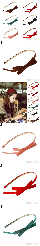 Sweet  Fashion Korea Style Bowknot Hair Band Bow Tie Headband Accessory 4PWT