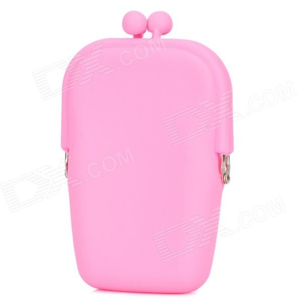 Quantity: 1 piece - Color: Pink - Material: Silicone - Gender: Women - Suitable for: Adults - Style: Fashion - Size: M - Fashionable design, durable, washable, lightweight, easy to carry; Great for storing coins, keys, jewelry, candies, cell phones and other small gadgets - Packing list: - 1 x Wallet http://j.mp/1tp2kyJ