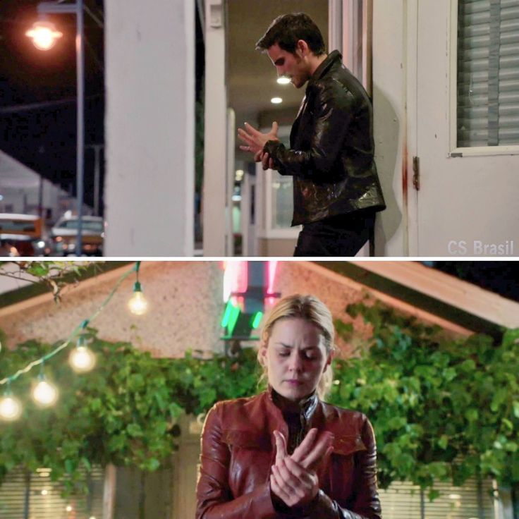 Parallels of Killian suffering alone because he wants to be a better man for Emma, and Emma lying and suffering alone because she doesn't want him to know she's going to die and then take away his happy ending from him...