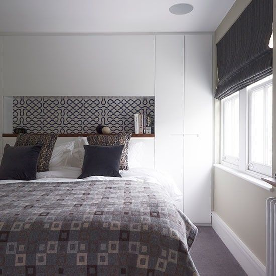 Muted grey and white bedroom | Bedroom decorating | Homes and Gardens | Housetohome.co.uk