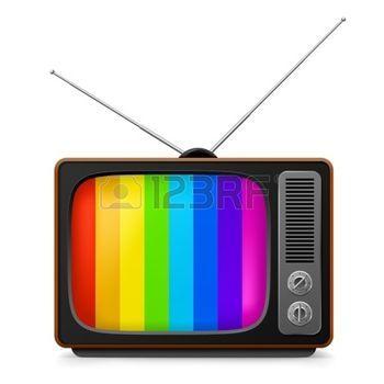 Pasado de moda retro TV. Ilustraci�n sobre fondo blanco photo