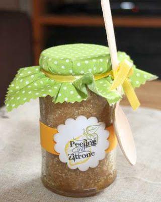 Kreative Ideen rund ums Basteln, Scrapbooking , Kochen und Backen: Zitronen Peeling