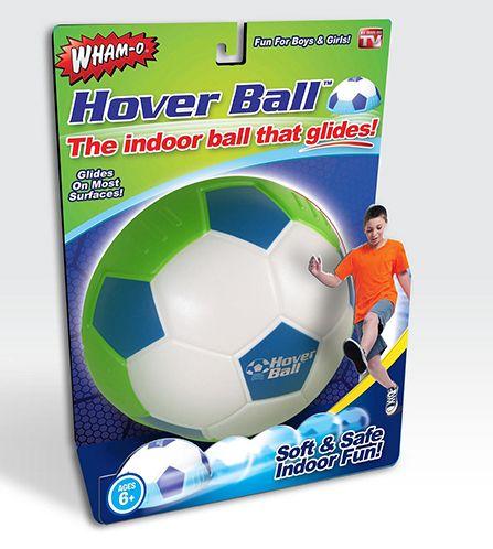 Hover ball -pallo, 12,99 €. Kevyt ja pehmeä pallo sisäpeleihin. Liukuu kevyesti mm. matolla, kaakelilla ja puupinnoilla.  BR-Lelut, 3. krs.
