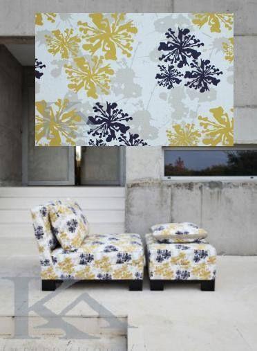 Imprimeul Gotha aduce caracter puternic tapitariei, pune accent pe mobilier si atrage atentia!  #tapitarie, #imprimeugalben  Gotha: http://tinyurl.com/lpasqfd