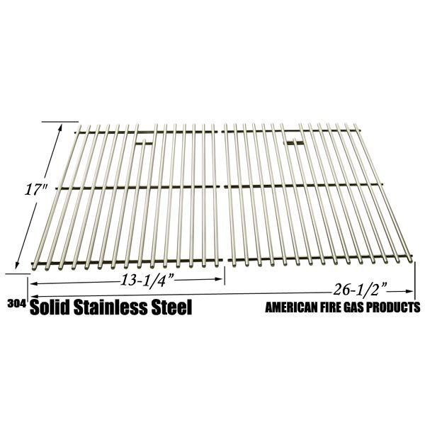 Stainless Steel Cooking Grid Replacement for Kenmore 122.16119, 122.16129, 122.16641900, 122.16641901, 16641, 415.16107110, 720-0341, 720-0549, 415.1610621, 720-0670A Gas Grill Models, Set of 2