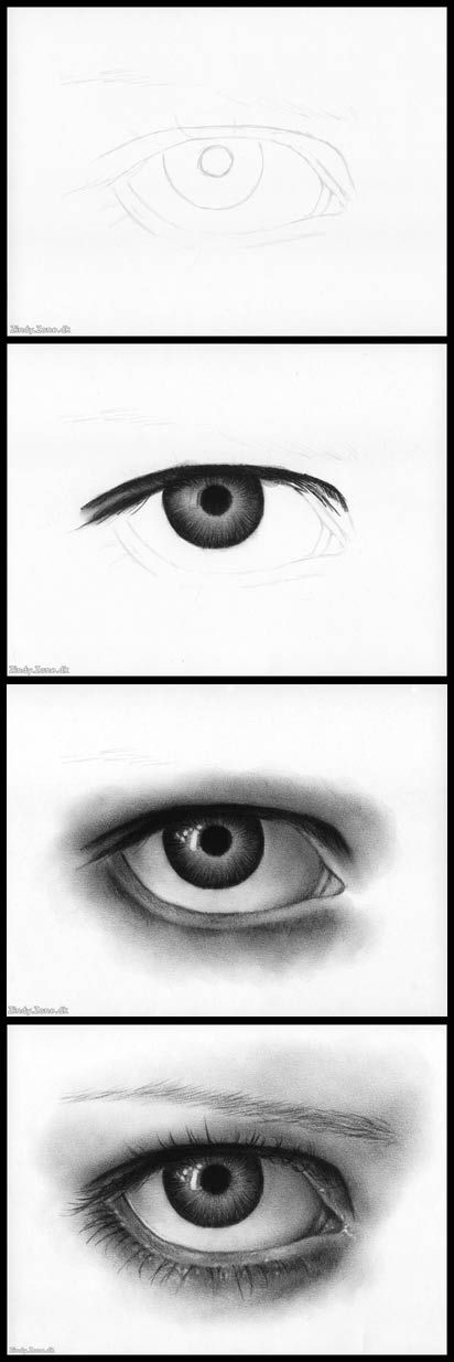 Charcoal Eye Tutorial by Zindy.deviantart.com