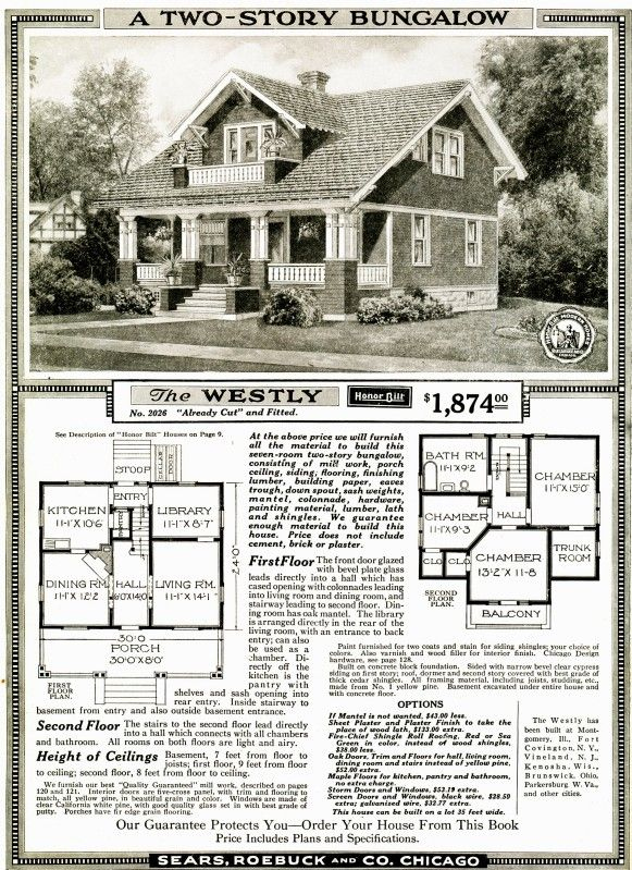 A craftsman kit sold through the sears catalog for $1,874  Great site about these kits sold these homes between 1908-1940.  How can you tell if your home is one of these:  http://www.searshomes.org/index.php/2011/11/27/is-my-house-a-sears-house-the-nine-easy-signs-2/