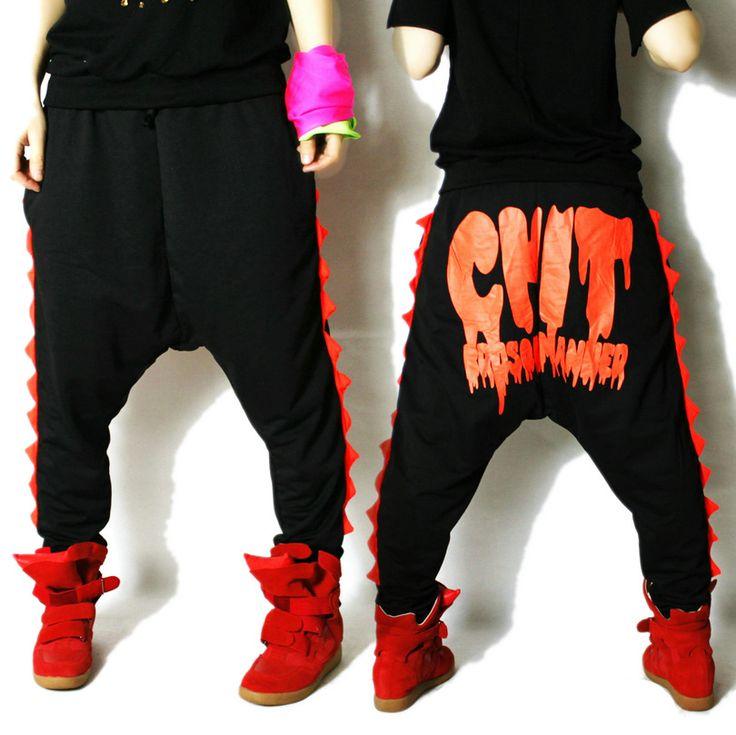 Бренд Athletic гарем хип-хоп джаз танец брюки штаны без тары костюм конфеты цвет багги женское спорт брюки