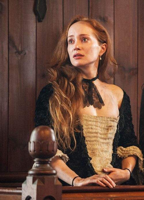 Geillis Duncan (Lotte Verbeek) in #Outlander on Starz, ep The Devil's Mark