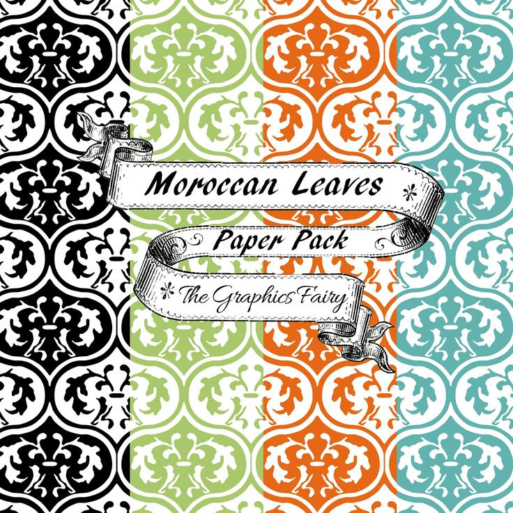Free Scrapbook Paper Moroccan Leaves