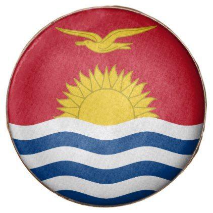 #Kiribati Flag Chocolate Covered Oreo - #Chocolates #Treats #chocolate