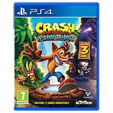 Buy Crash Bandicoot N. Sane Trilogy, PS4 Online at johnlewis.com