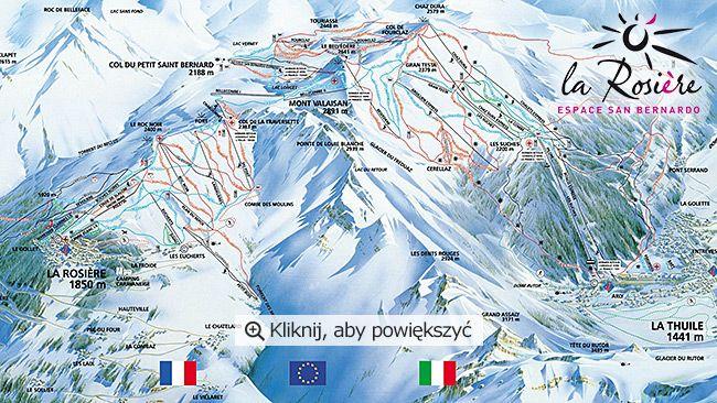 Mapka stoków La Rosière. Źródło: http://www.snowshow.pl/resorty,La-Rosiere,86