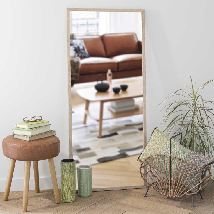 80€, Spiegel aus Holz, b 56 cm, H 130cm, ZAPPY | Maisons du Monde