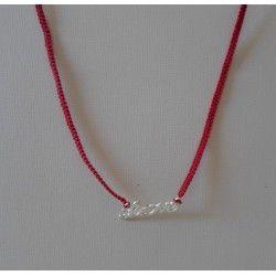 """Bracelet/ collier connecteur """"love"""" macramé"""