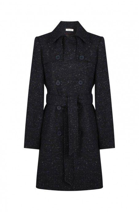 Manteau cintré avec boutons et col 139,99 € Couleur      NOIR  Taille
