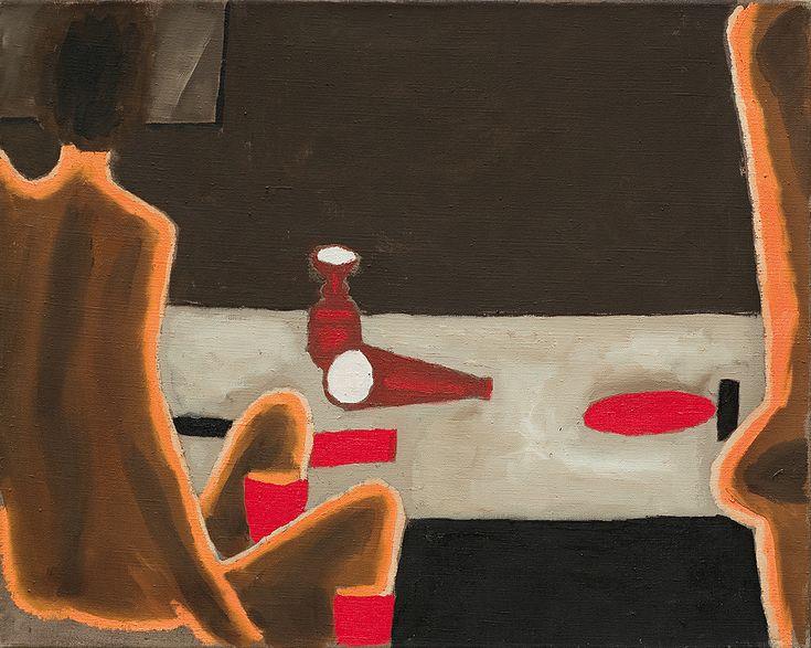 """Jerzy Nowosielski """"Akt przy stole"""" 1974"""