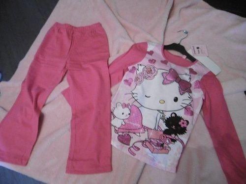 Pyjama fille Hello Kitty fuschia en 6 ans