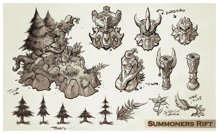 ArtStation - League of Legends, Summoners Rift update Architecture concept art…