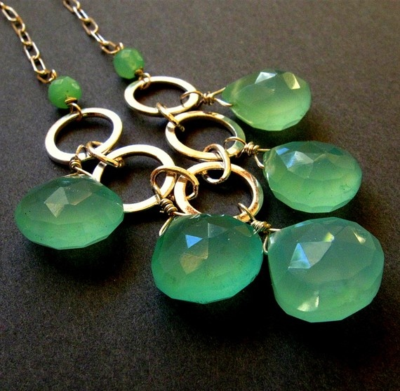 Beautiful green necklace.