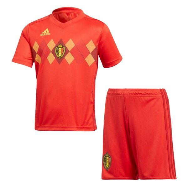 044cd542415f4 Futbol Originales Casa Conjunto De Niños Bélgica 2018 Rojo ...