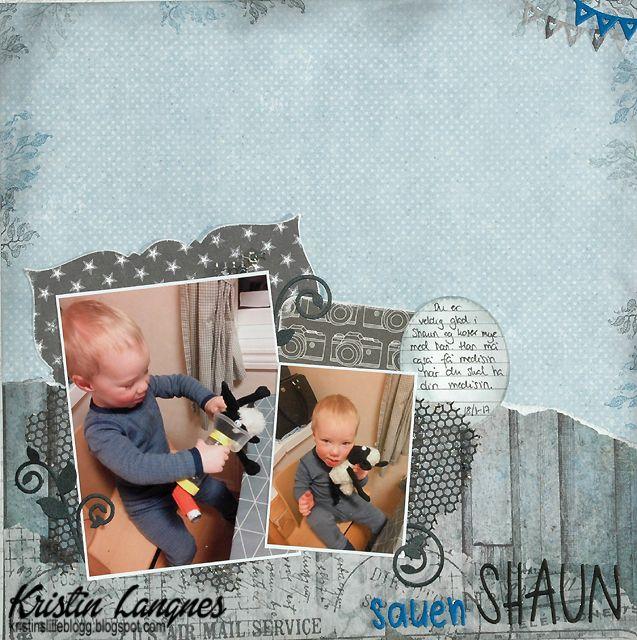Sønnen vår fikk en sauen Shaun-bamse til jul og han elsker den bamsen. Shaun må være med og gjøre akkurat det samme som sønnen min skal gjø...
