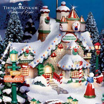 Thomas Kinkade Santas North Pole Christmas Village Collection