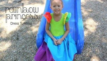 Rainbow Princess Dress Tutorial