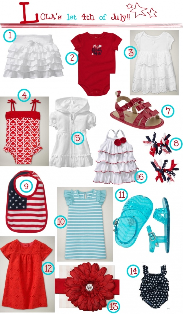 july 4th baby girl outfits