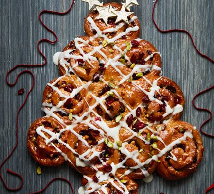 These are filled with tangy orange and cranberry, spices and a spiral of grated marzipan. Serve with a cup of coffee as part of a holiday brunch