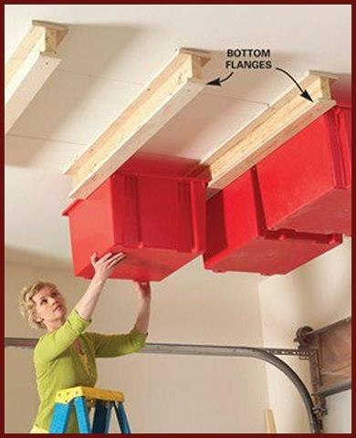 COOL STORAGE IDEA-If your garage is running out of space, why not build this