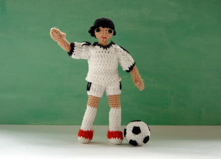 Looking for your next project? You're going to love Amigurumi doll football/soccer player by designer Kseniczka. - via @Craftsy