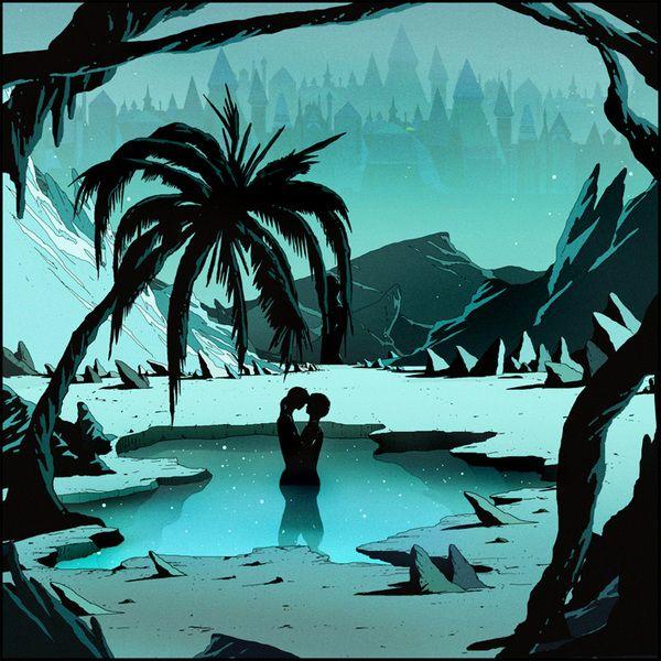 Caotico album artwork by Kilian Eng, via Behance
