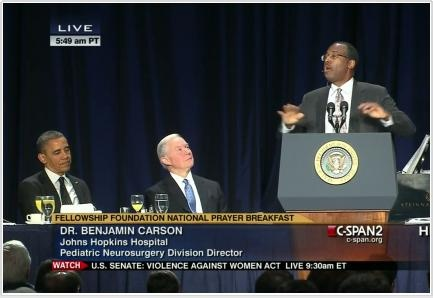 A speech by Dr. Ben Carson at the 2013 National Day of Prayer Breakfast.