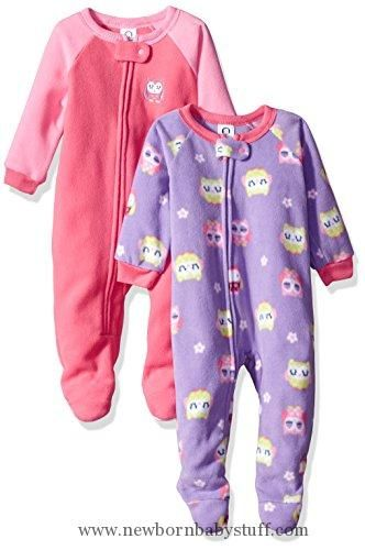 Baby Girl Clothes Gerber Baby 2 Pack Blanket Sleeper, owl, 12 Months