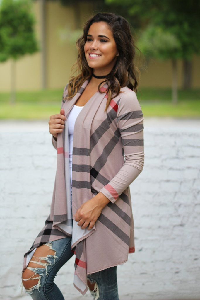 GASP! This Mocha Check Print Cardigan will steal your heart! it features our fave check print in cardigan style! Stylish and comfy, you can't go wrong with this amazing cardigan! We guarantee it will