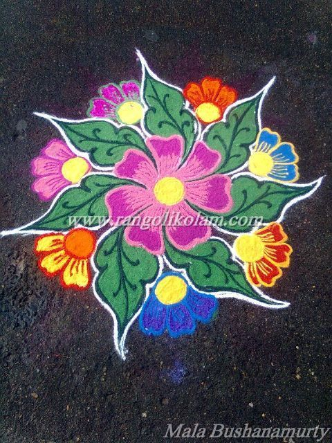 Today Thoughts Of Kolam......... Without communication there is no relationship. Without respect there is no LOVE. Without trust there is no reason to continue. Free hand lovely flower design kolam...