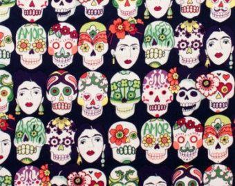 latin fabric sugar skulls cotton - Google Search