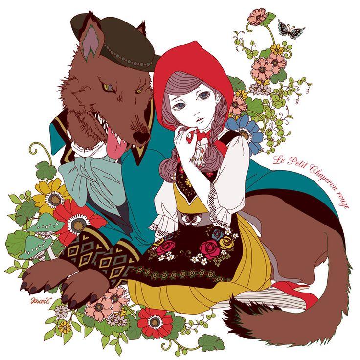 Hanzel and Grethel - Red Riding Hood - 赤ずきん 構成・配色・表情
