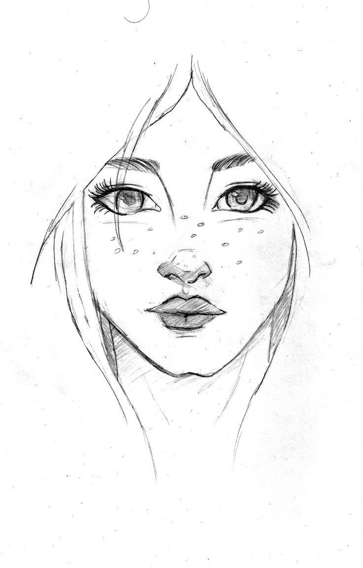 Рисунки лица людей легкие
