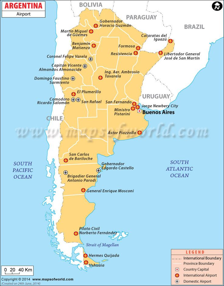 Best Maps Images On Pinterest Location Map Airports And - Map 0f argentina