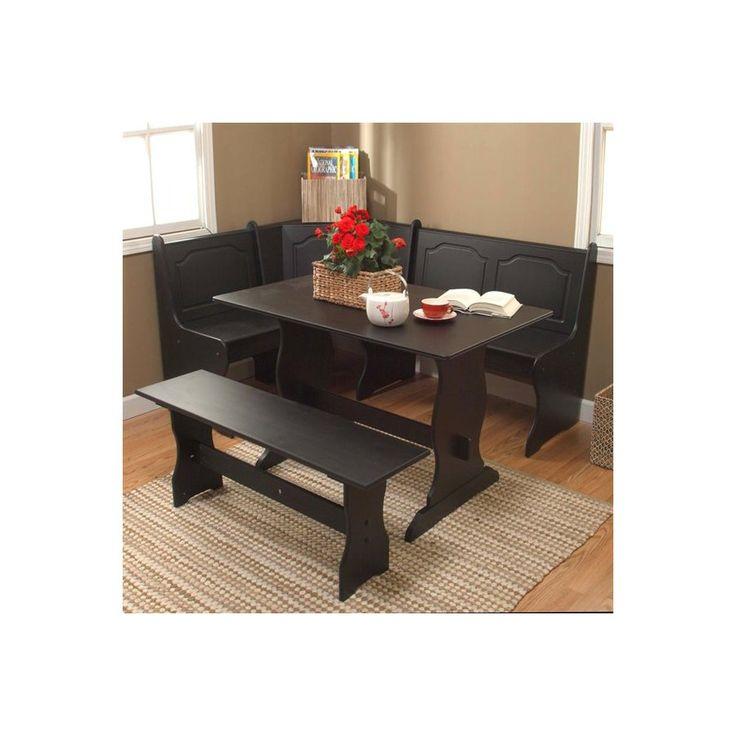 Santa fe breakfast nook set cabo corner breakfast nook set w upholstered seats with santa fe - Kitchen nook set ...