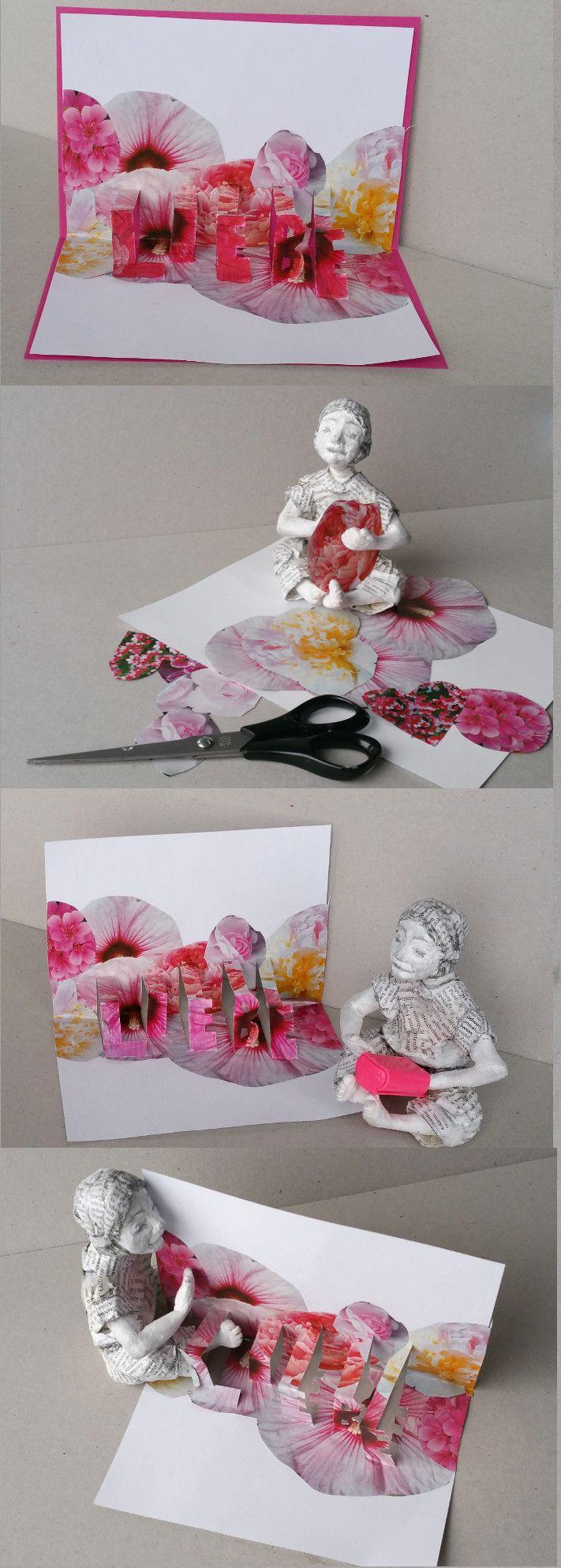 Die Pop-up Karte Liebe kannst Du zum Valentinstag oder zu jeder anderen Gelegenheit basteln, um jemandem zu sagen, dass Du ihn liebst. http://blog.dorotheakoch.de/pop-up-karte-basteln/