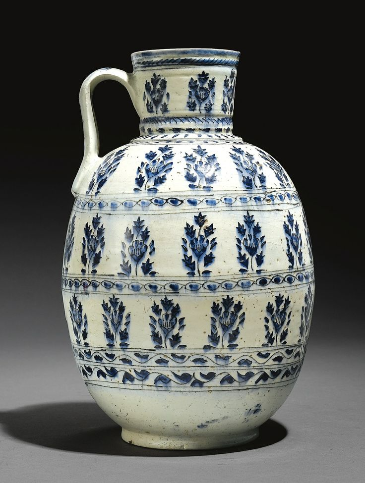 Kütahya Blue & White Jug, 18th Century Turkey