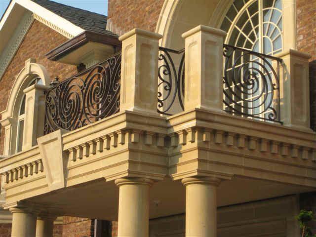 railings for stairs exterior   Exterior railings - iron railings ...