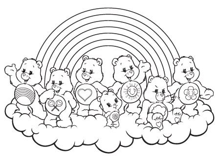 Caring On A Cloud Care Bears Activity Find This Pin And More Bear Colouring Pages