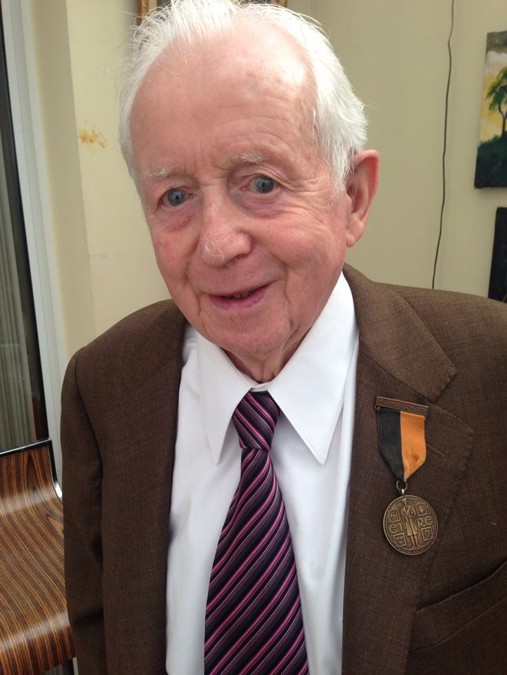 Dad, with Grandad's IRA War of Independence medal.
